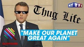 """Make Our Planet Great Again"" : Emmanuel Macron massacre Donald Trump - Quotidien du 02 juin 2017"